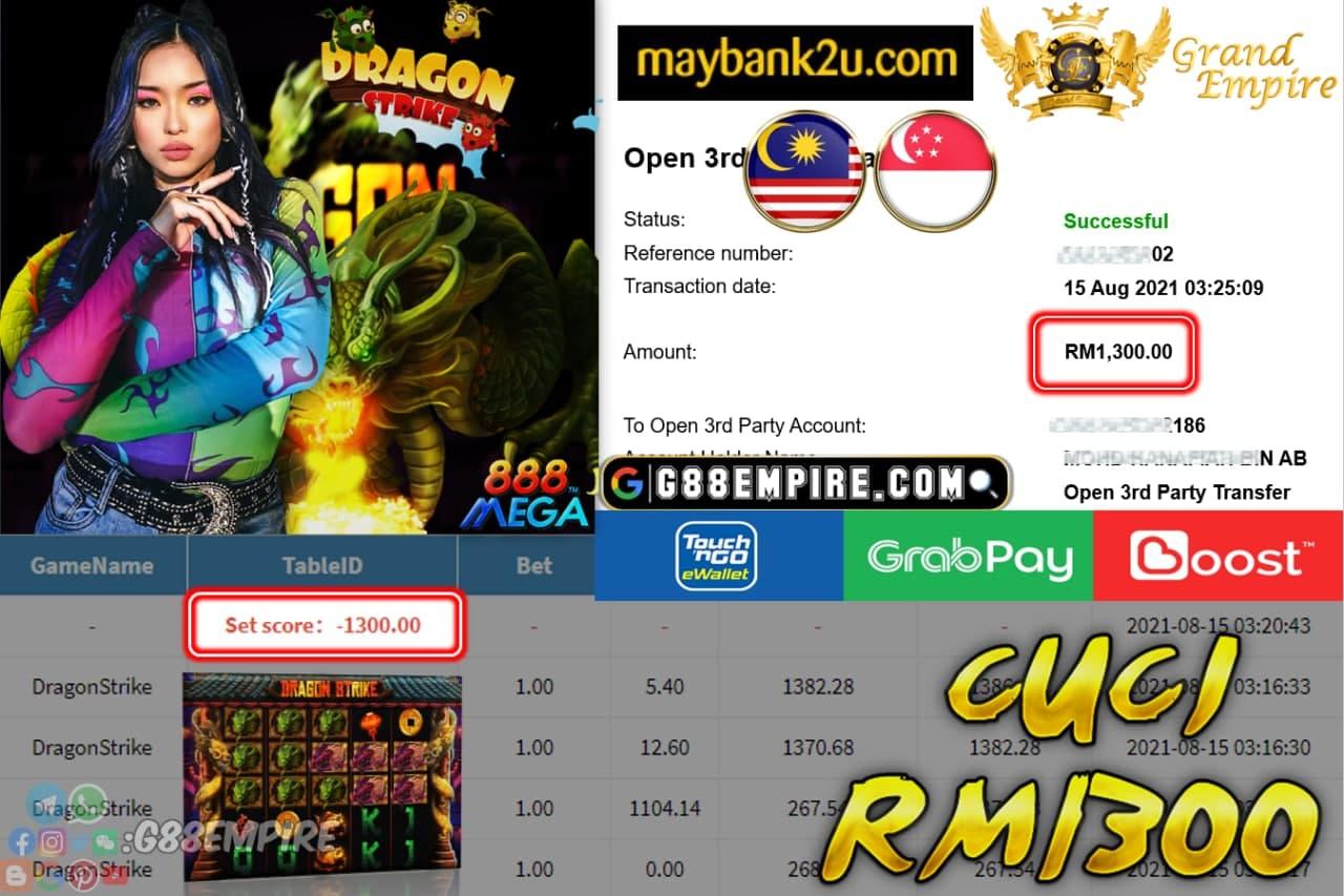 MEGA888  - DRAGONSTRIKE CUCI RM1,300!!!