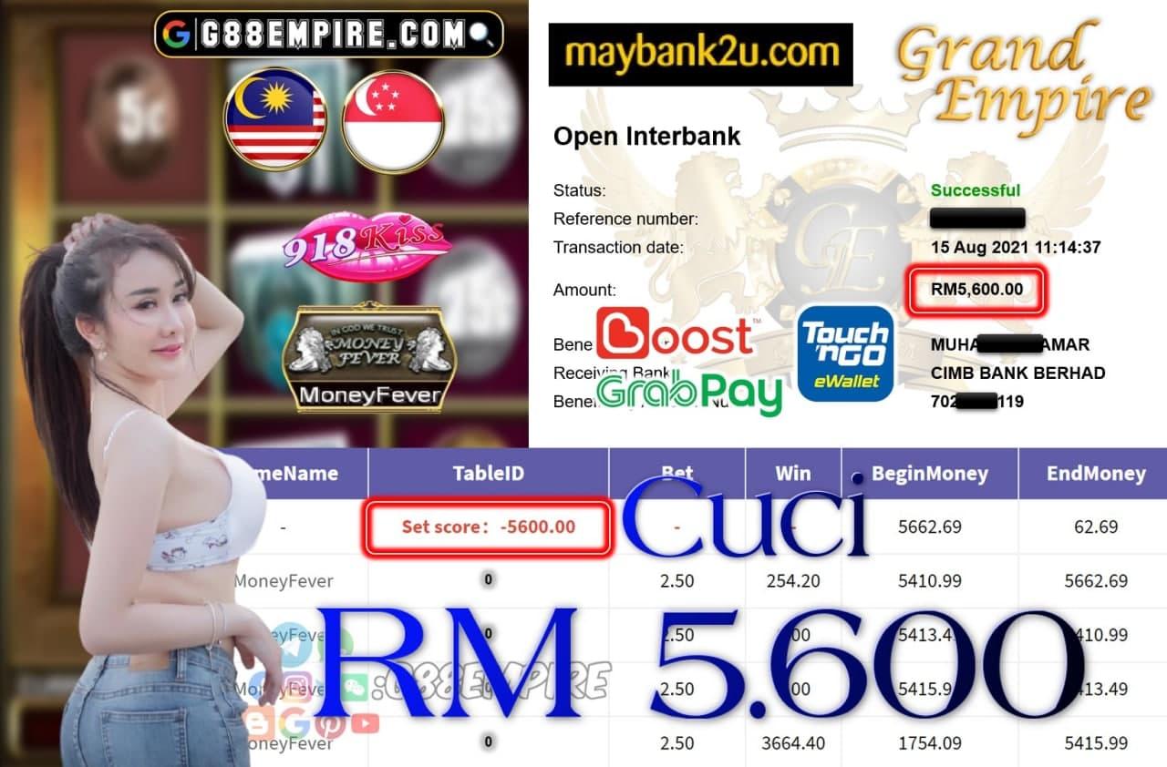 918KISS ORI - MONEYFEVER CUCI RM5,600!!!