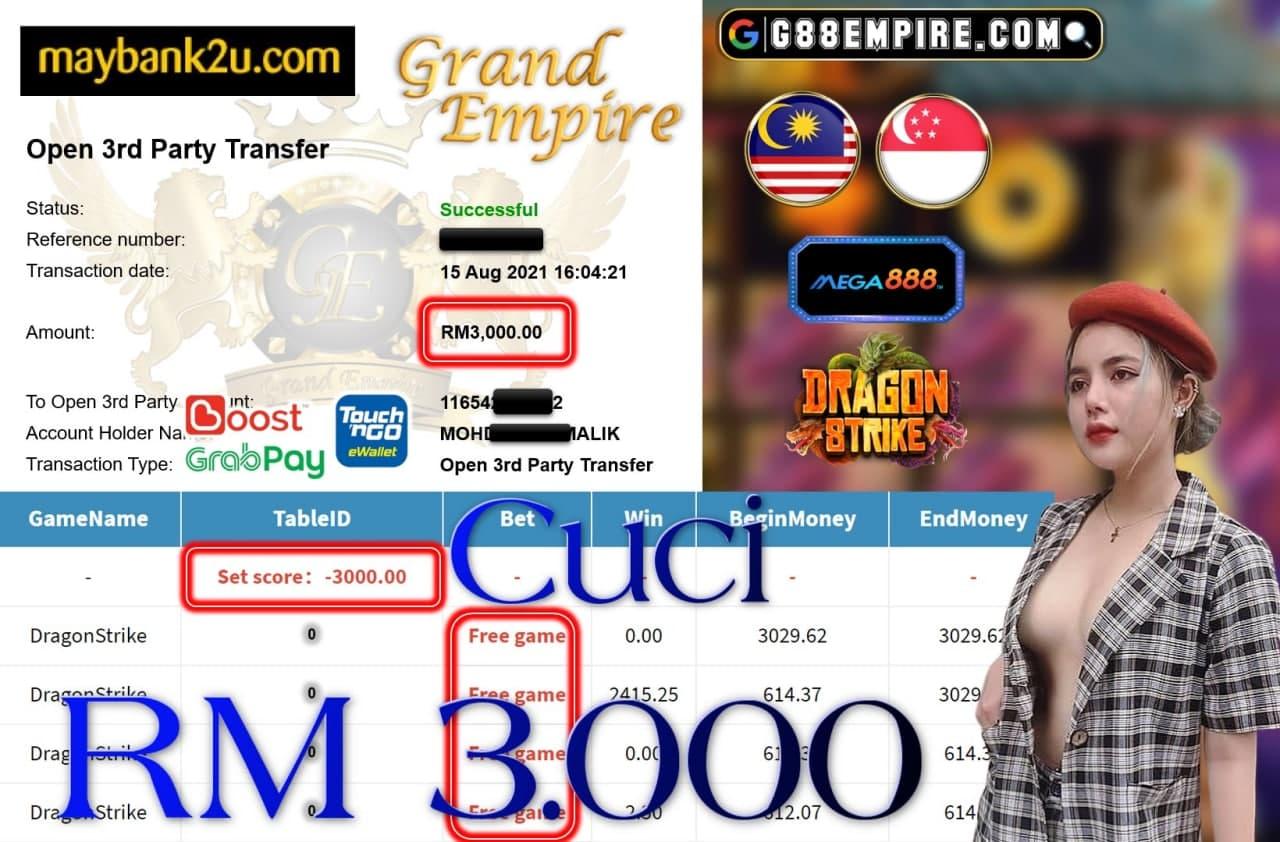 MEGA888 - DRAGONSTRIKE CUCI RM3,000!!!
