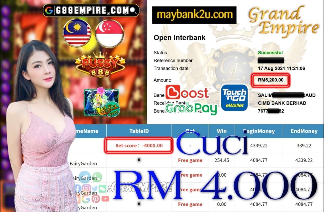 PUSSY888 - FAIRYGARDEN CUCI RM4,000!!!