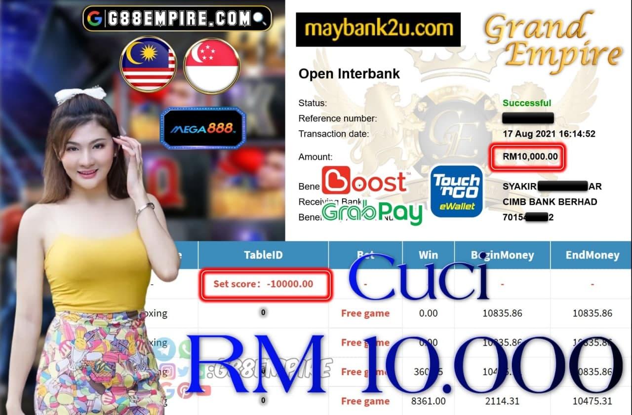 MEGA888 - BOXING CUCI RM10,000!!!