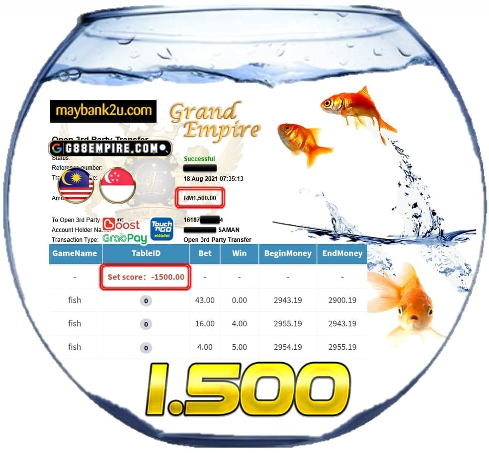 KISS918 - FISH CUCI RM 1.500!!!