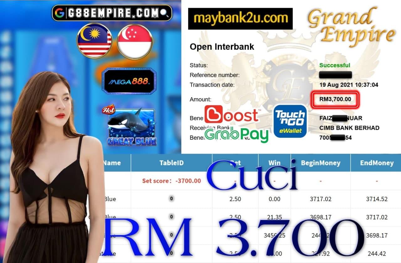 MEGA888 - GREATBLUE CUCI RM3,700!!!