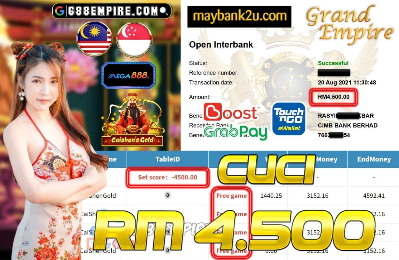 MEGA888 - CAISHENGOLD CUCI RM4,500!!!