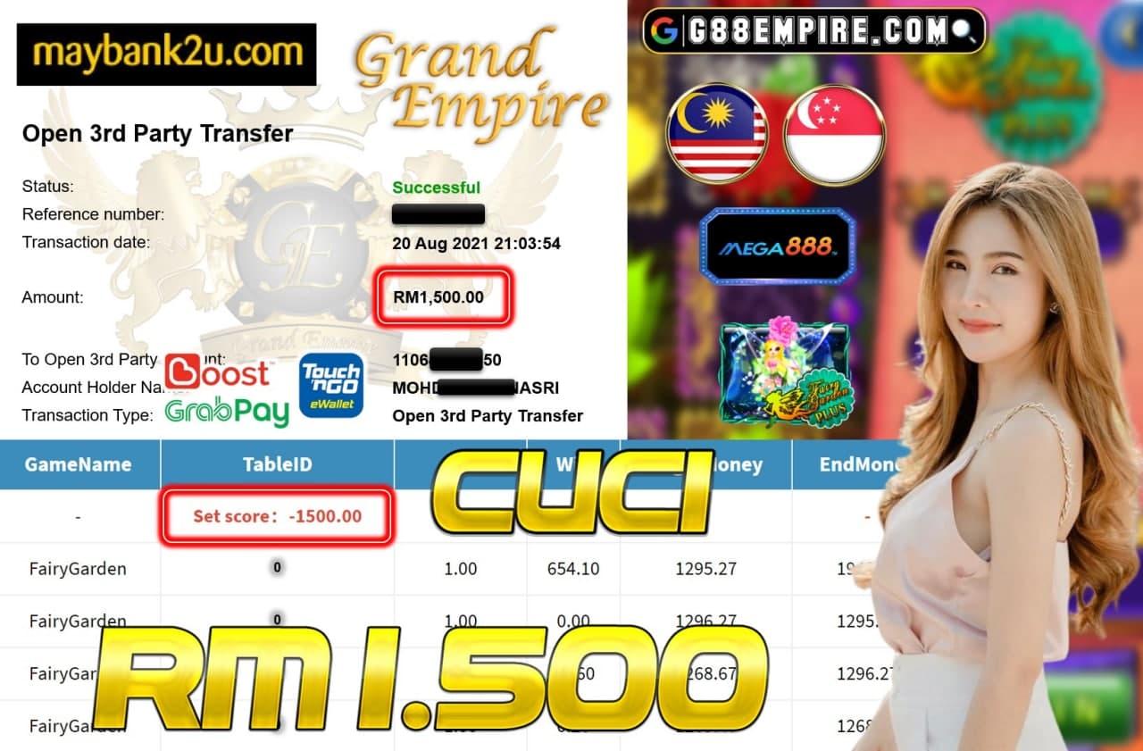 MEGA888 - FAIRYGARDEN CUCI RM1,500!!!