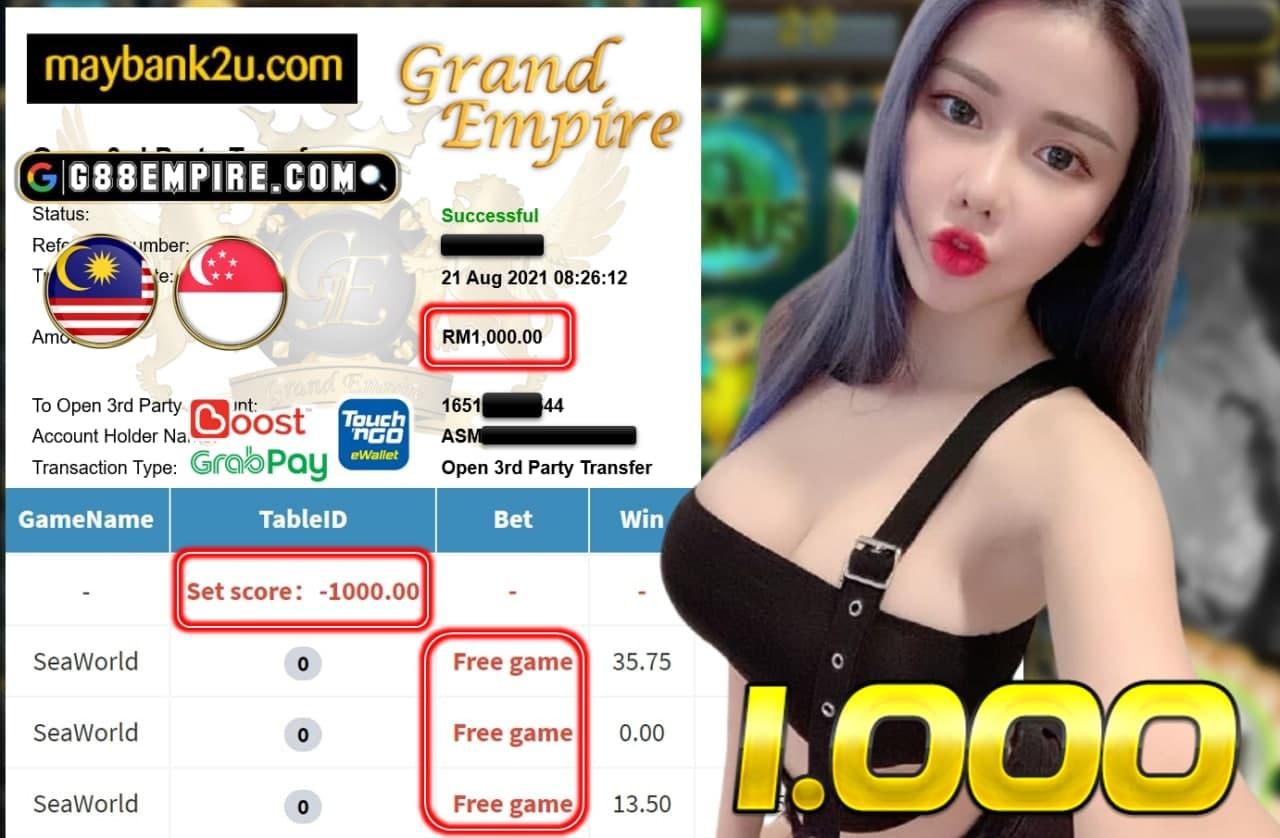 MEGA888-SEAWORLD CUCI RM 1.000!!!