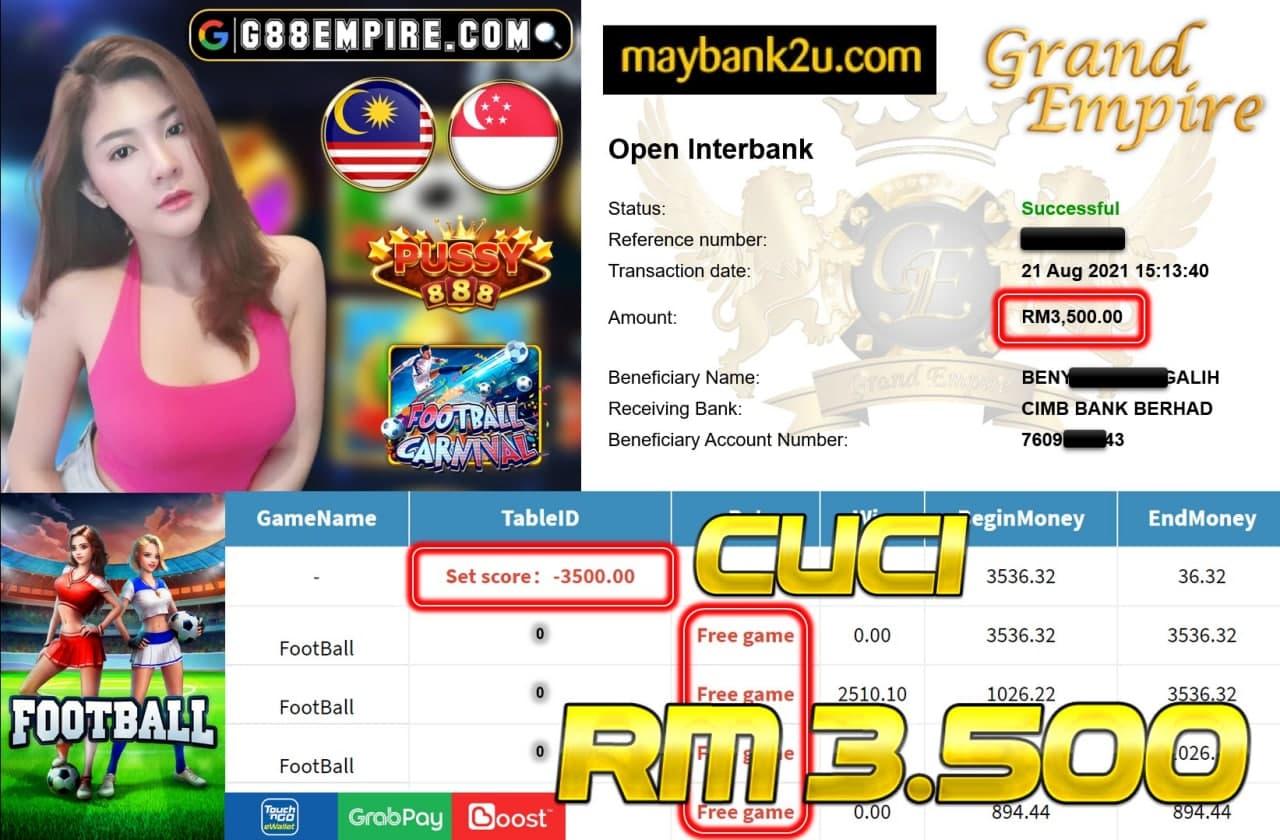 PUSSY888 - FOOTBALL CUCI RM3,500!!!