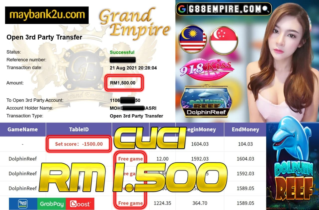 918KISS ORI - DOLPHINREEF CUCI RM1,500!!!