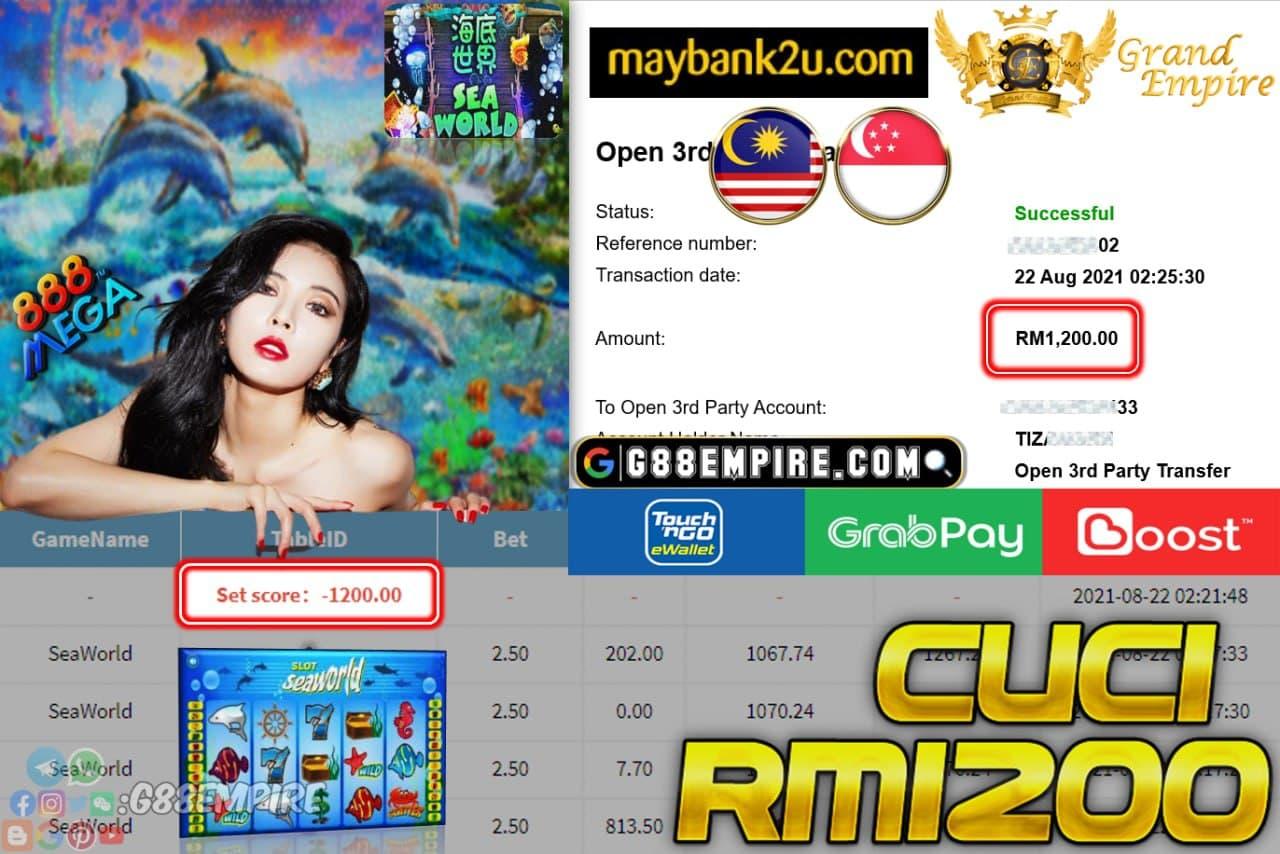 MEGA888 - SEAWORLD CUCI RM1,200!!!