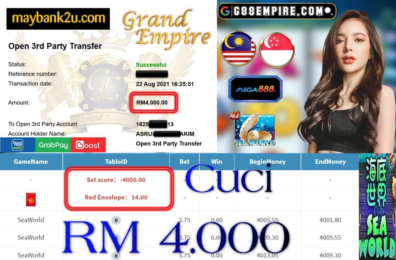 MEGA888 - SEAWORLD CUCI RM4,000!!!