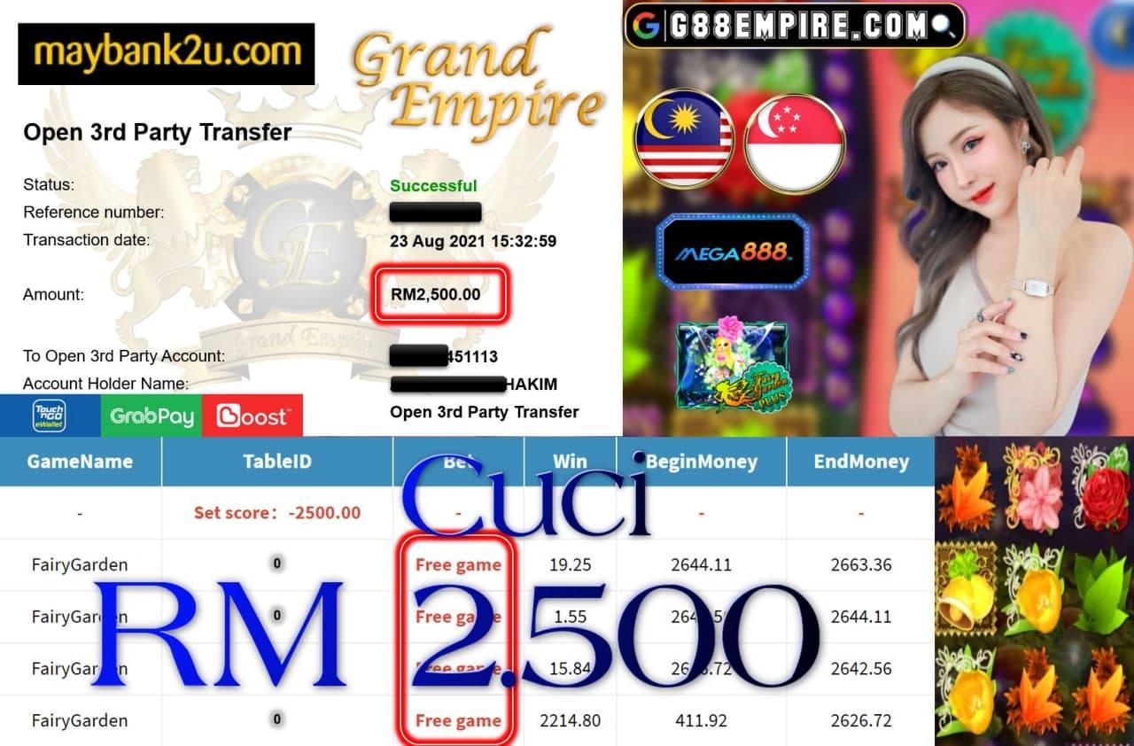 MEGA888 - FAIRYGARDEN CUCI RM2,500!!!