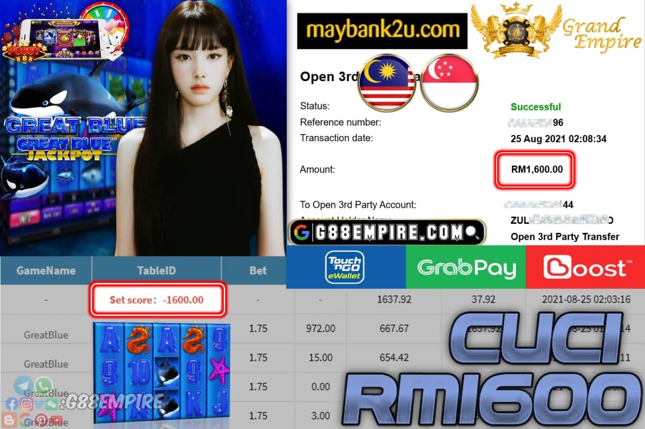 PUSSY888 - GREATBLUE CUCI RM1,600!!!