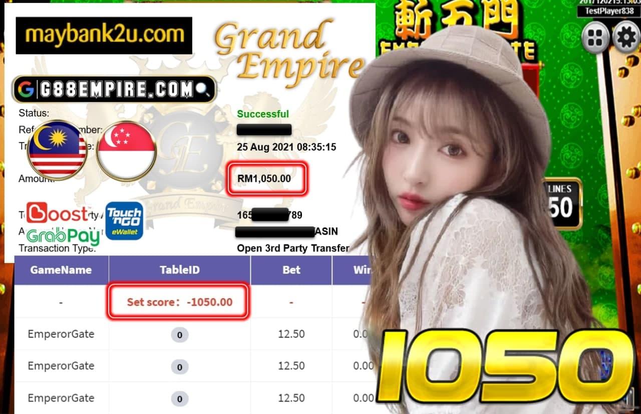 KISS918 - EMPERORGATE CUCI RM 1.050!!!