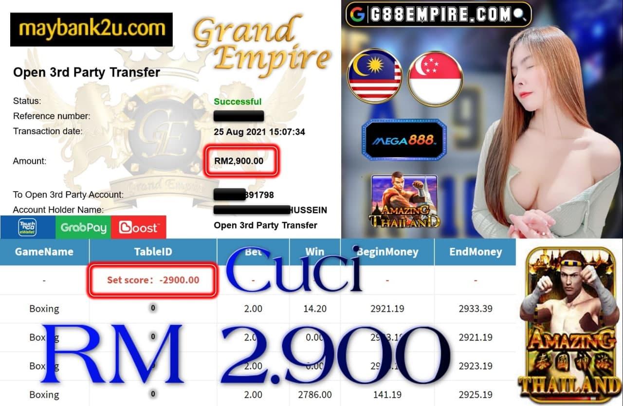 MEGA888 - BOXING CUCI RM2,900!!!