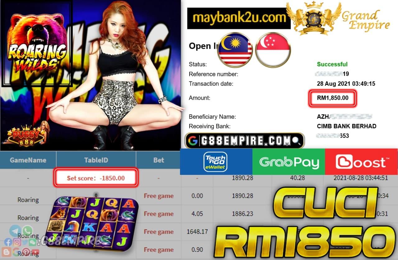 PUSSY888 - ROARING CUCI RM1,8500!!!