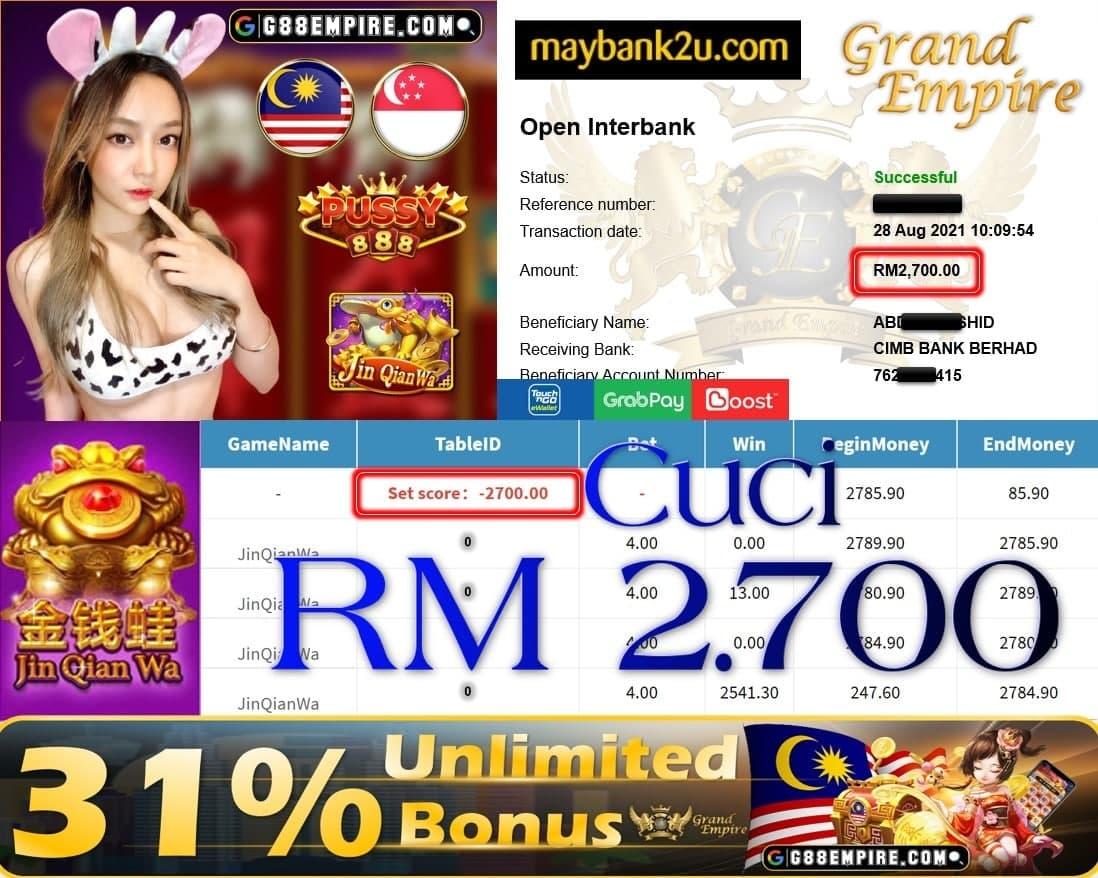 PUSSY888 - JINQIANWA CUCI RM2,700!!!