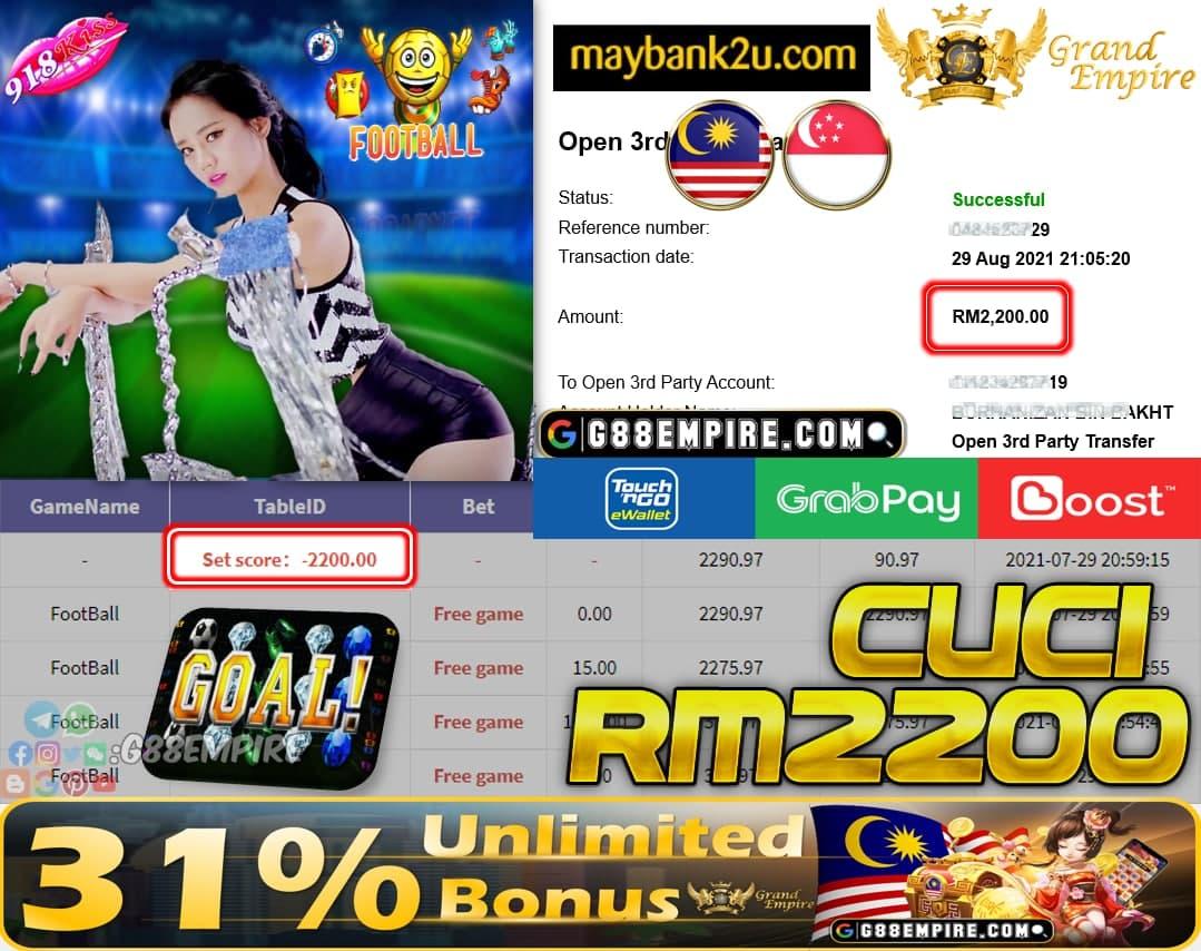 918KISS - FOOTBALL CUCI RM2,200!!!
