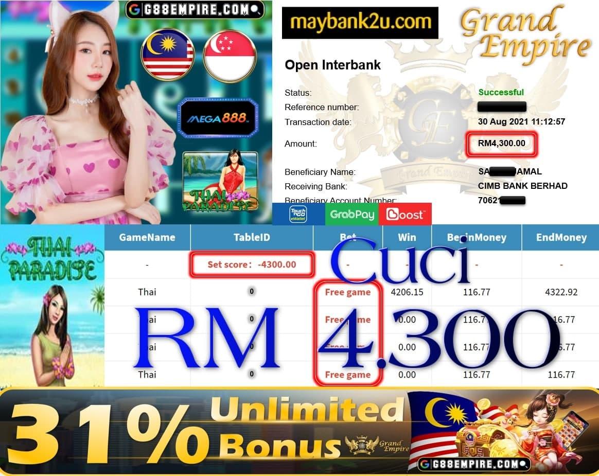 MEGA888 - THAI CUCI RM4,300!!!