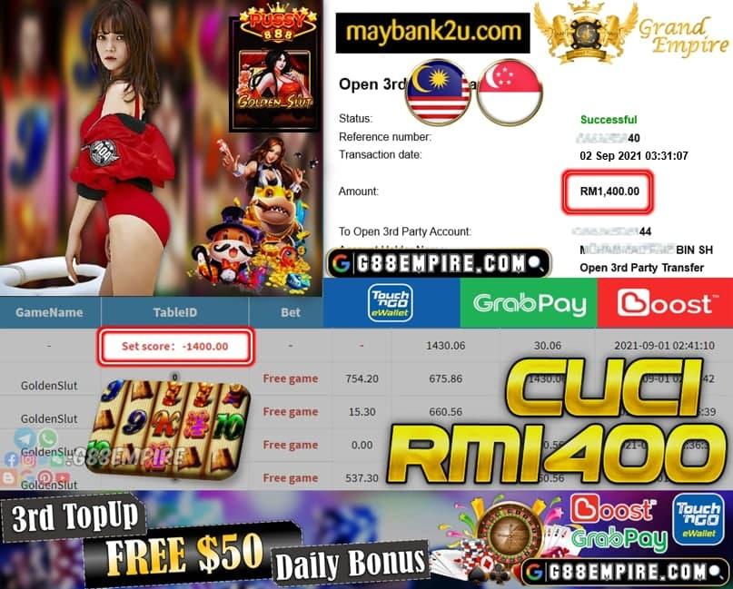 PUSSY888 - GOLDENSLUT CUCI RM1,4000!!!