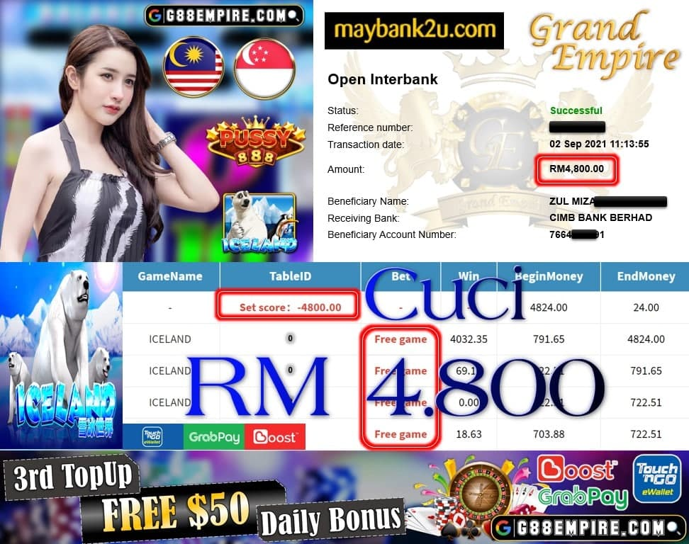 PUSSY888 - ICELAND CUCI RM4,800!!!