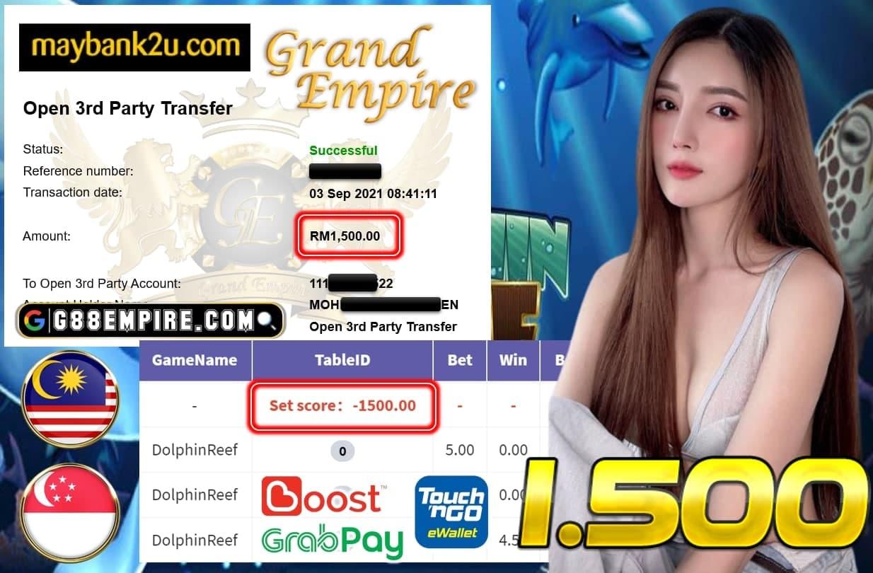 KISS918 - DOLPHINREEF CUCI RM 1.500!!!