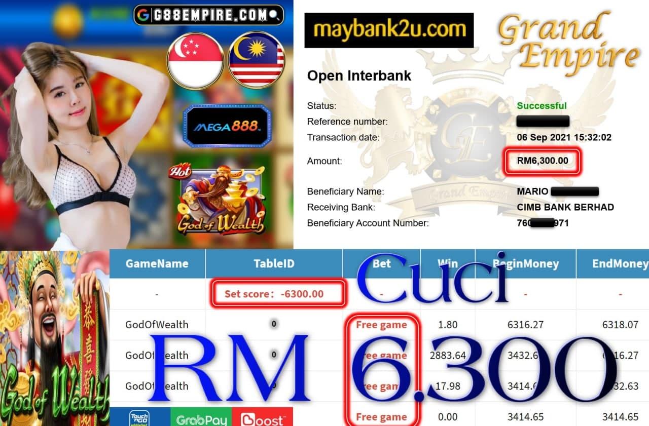 MEGA888 - GODOFWEALTH CUCI RM6,300!!!