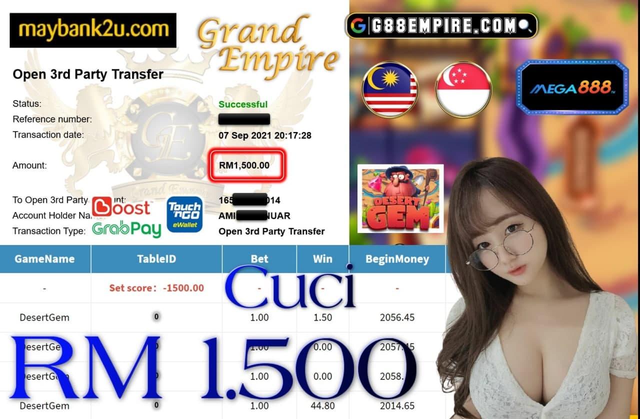 MEGA888 - DESSERT GEM CUCI RM1,500!!!
