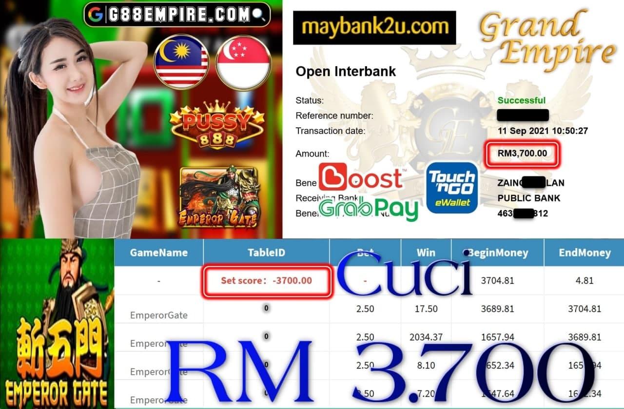PUSSY888 - EMPRORGATE CUCI RM3,700!!!