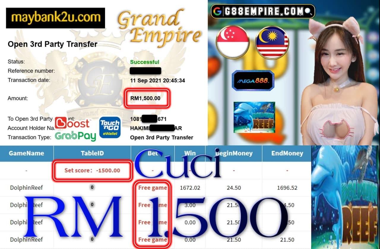 MEGA888 - DOLPHINREEF CUCI RM1,500!!!