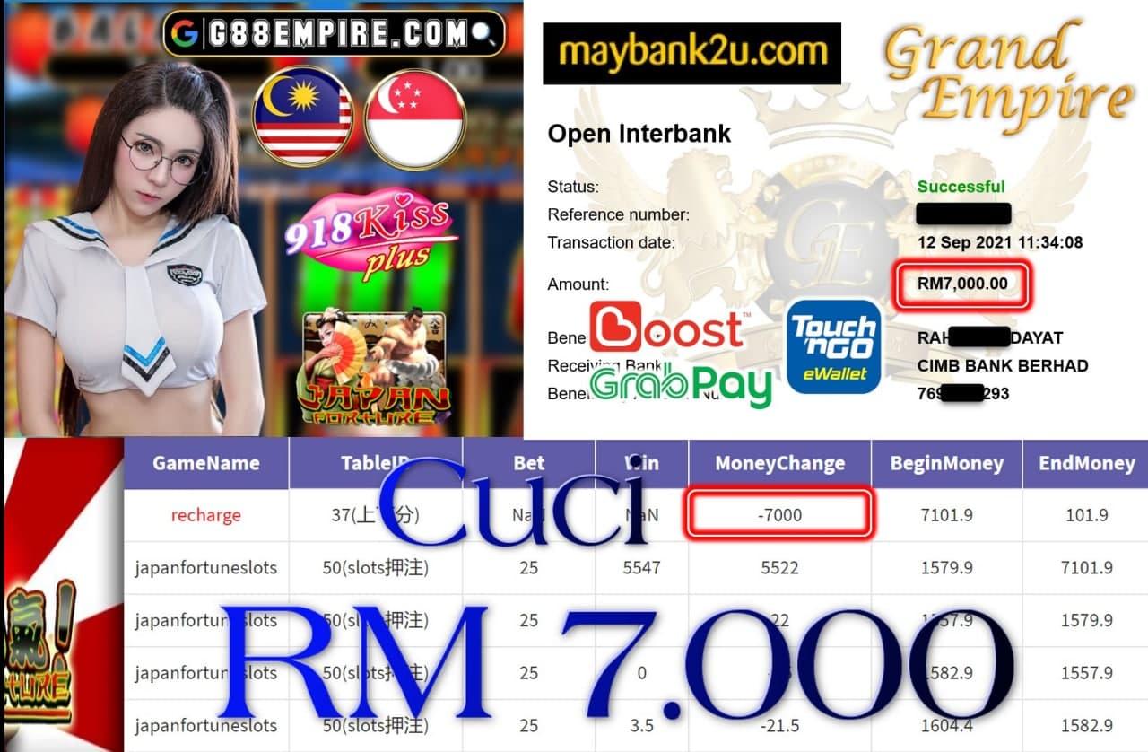 918KISS PLUS - JAPANFORTUNESLOTS CUCI RM7,000!!!
