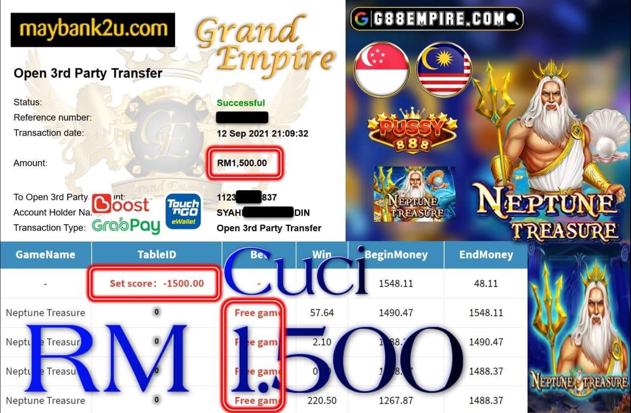 PUSSY888 - NEPTUNE TREASURE CUCI RM1,500!!!