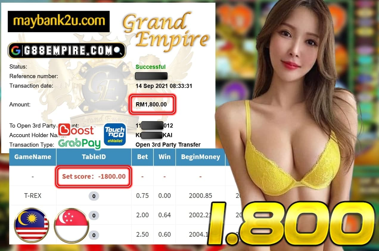 MEGA888 - T-REX CUCI RM 1.800!!!