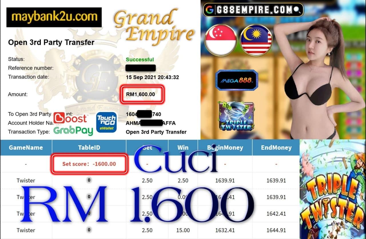 MEGA888 - TWISTER CUCI RM1,600!!!