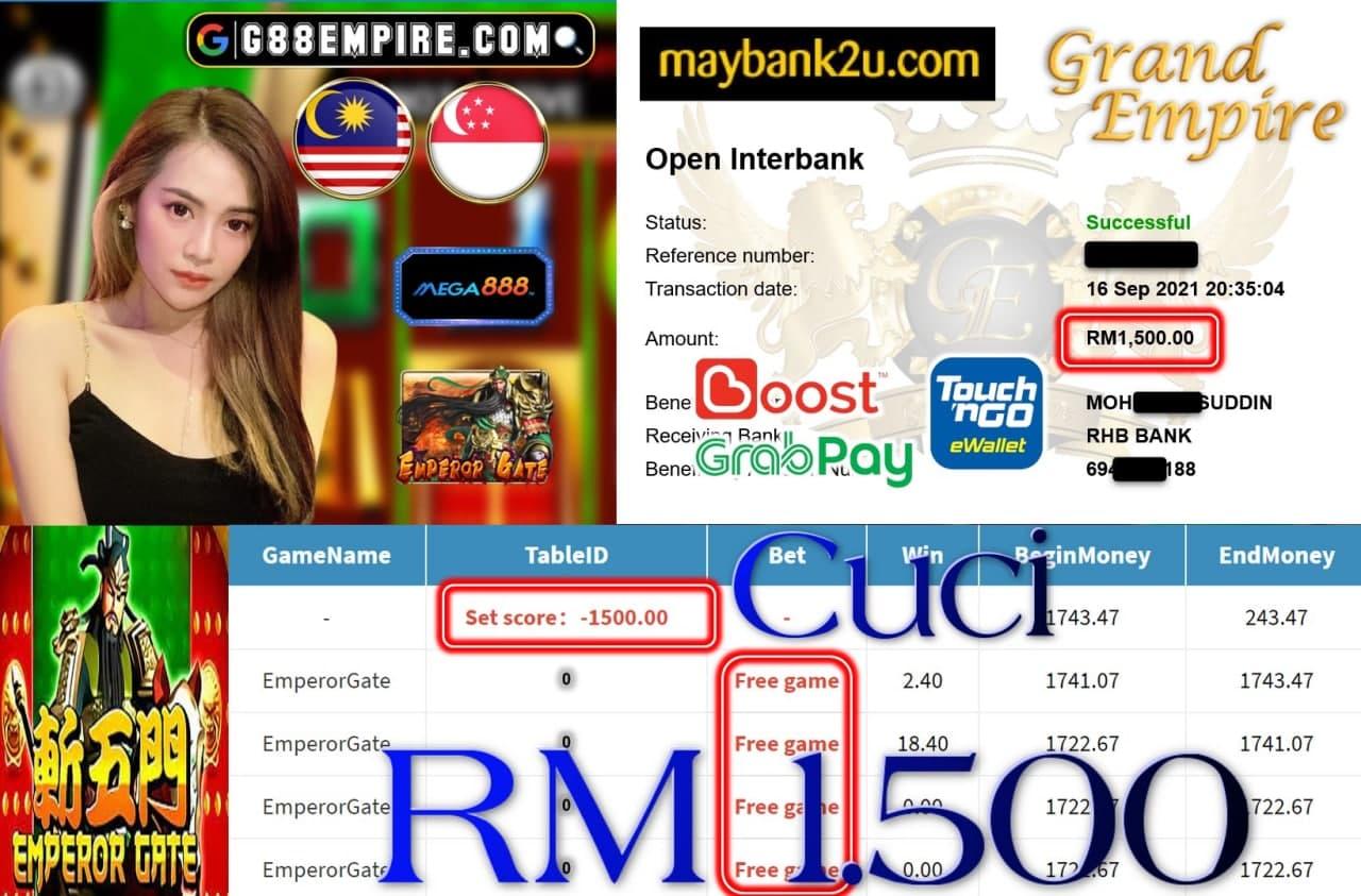 MEGA888 - EMPEROR GATE CUCI RM1,500!!!