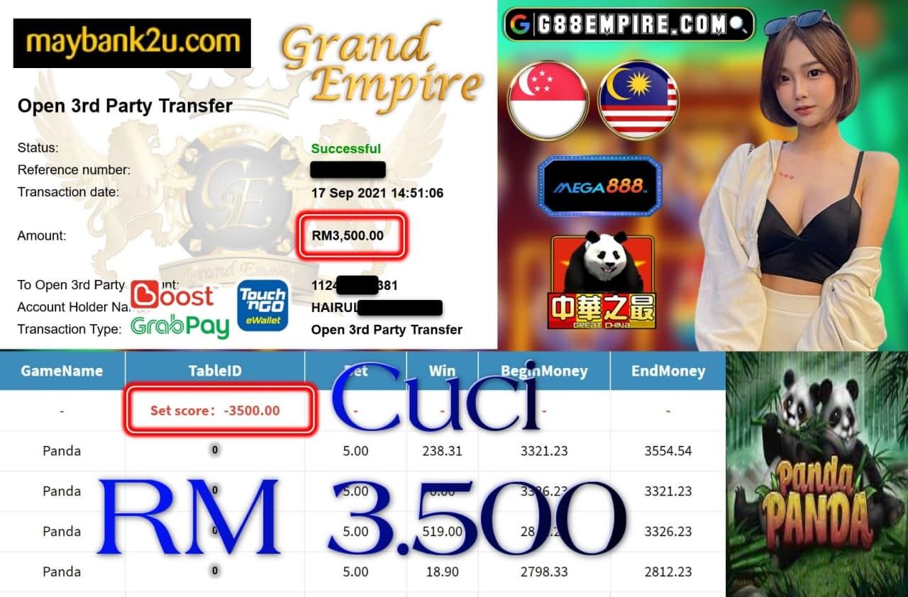 MEGA888 - PANDA CUCI RM3,500!!!