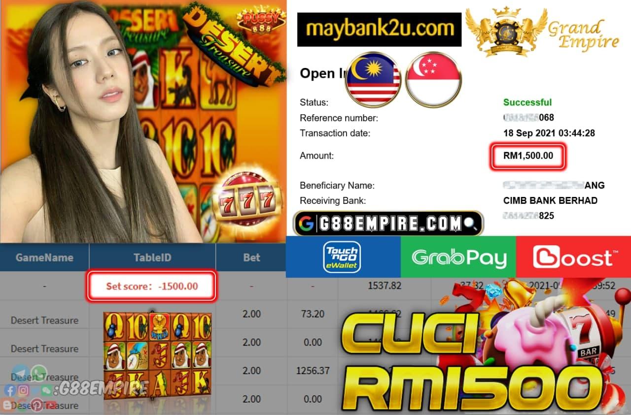 PUSSY888 - DESERT TREASURE CUCI RM1,500!!!