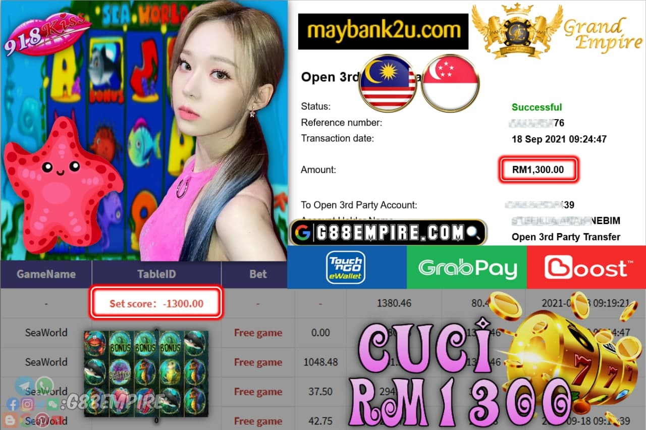 918KISS - SEAWORLD  CUCI RM1,100!!!