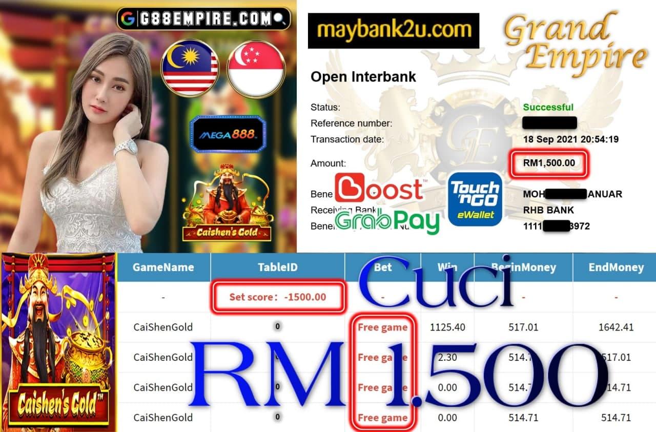 MEGA888 - CAISHENGOLD  CUCI RM1,600!!!