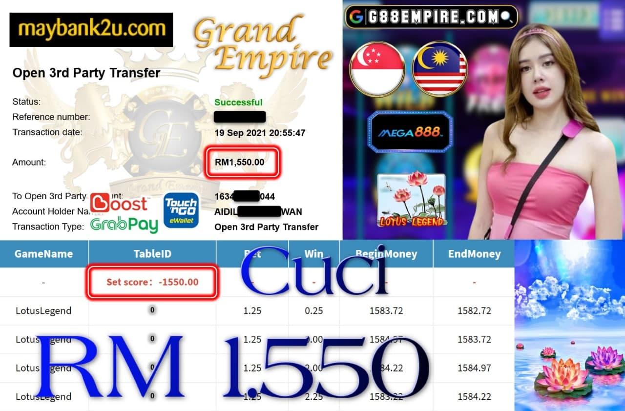 MEGA888 - LOTUSLEGEND CUCI RM1,550!!!