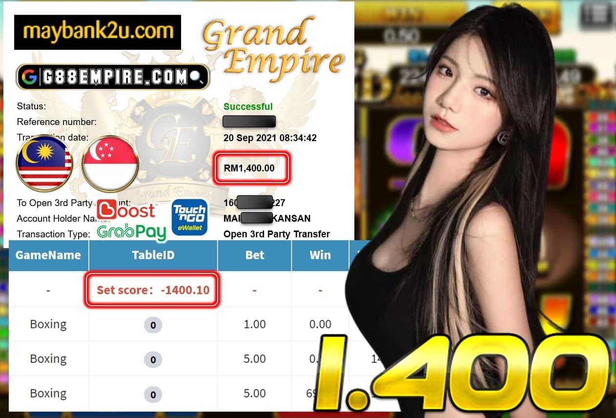 MEGA888 - BOXING CUCI RM 1.400!!!