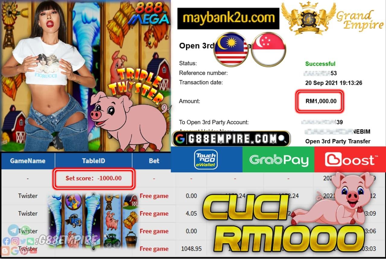 MEGA888 - TWISTER CUCI RM1,000!!!