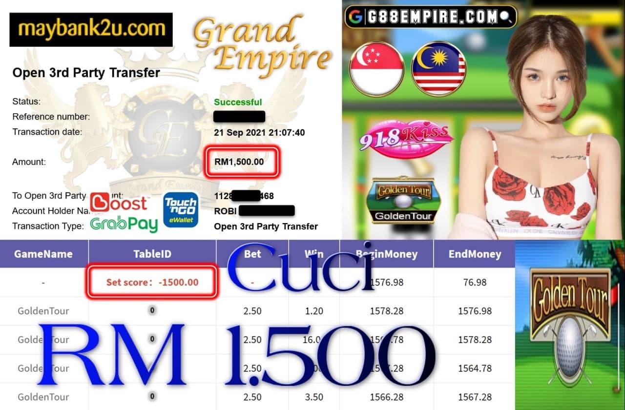 918KISS ORI - GOLDENTOUR CUCI RM1,500!!!