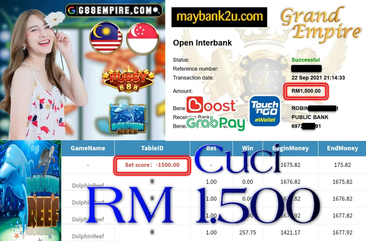 PUSSY888 - DOLPHINREEF CUCI RM1,500!!!