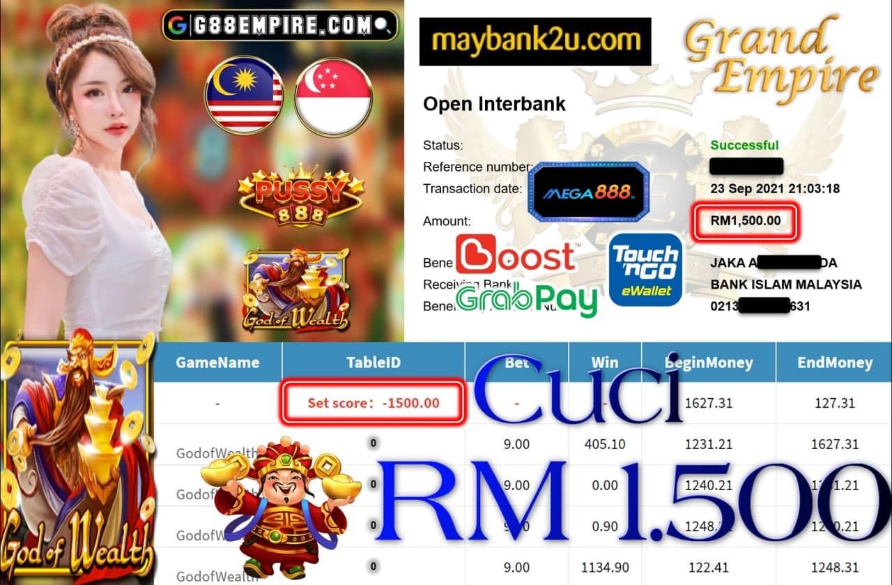 PUSSY888 - GODOFWEALTH CUCI RM1,500!!!