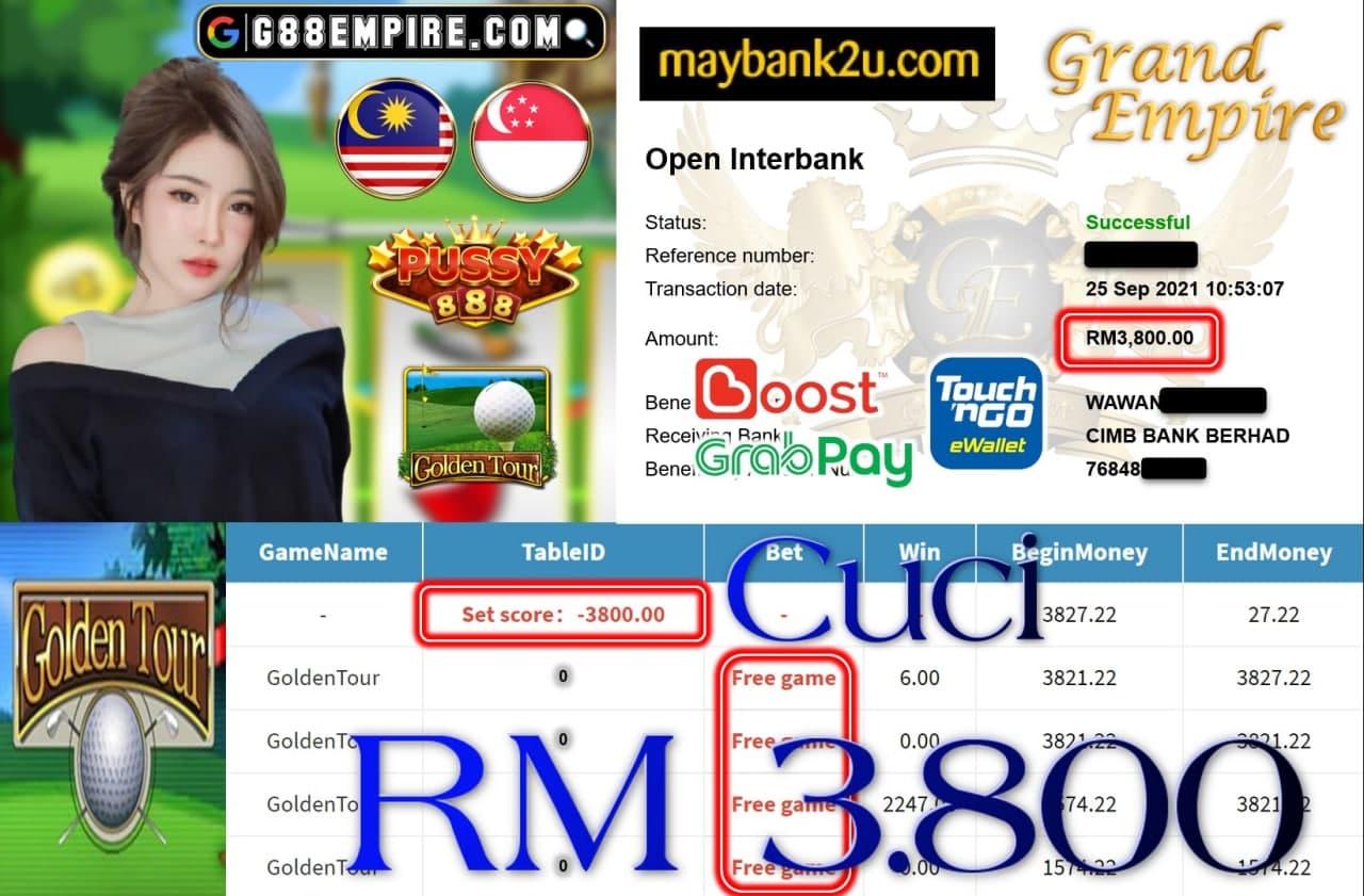 PUSSY888 - GOLDENTOUR CUCI RM3,800!!!