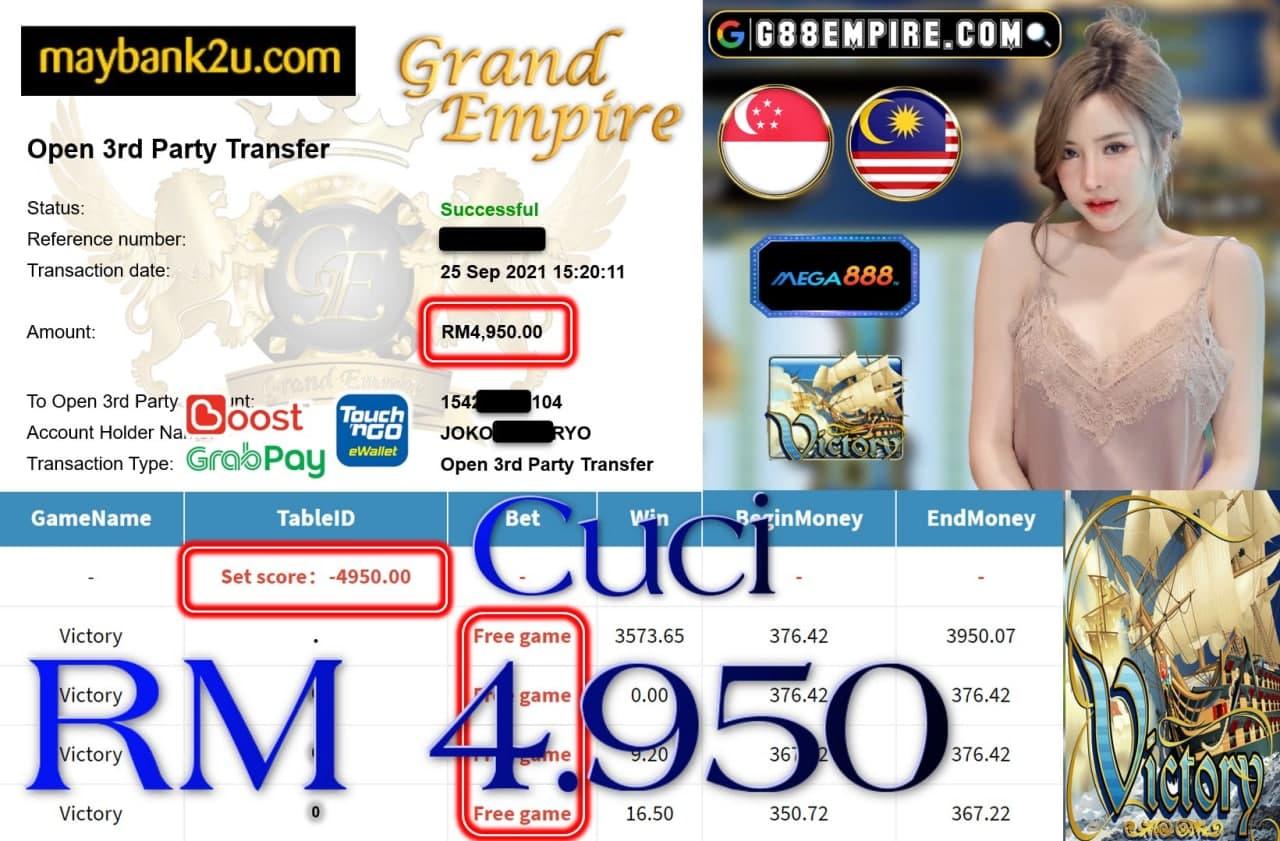 MEGA888 - VICTORY CUCI RM4,950!!!