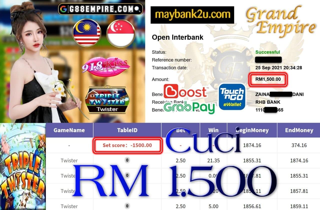 918KISS ORI - TWISTER CUCI RM1,500!!!