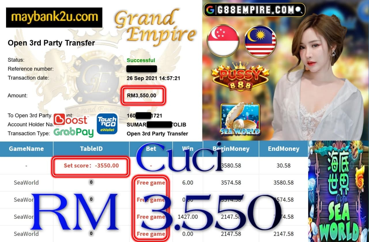 PUSSY888 - SEAWORLD CUCI RM3,550!!!!