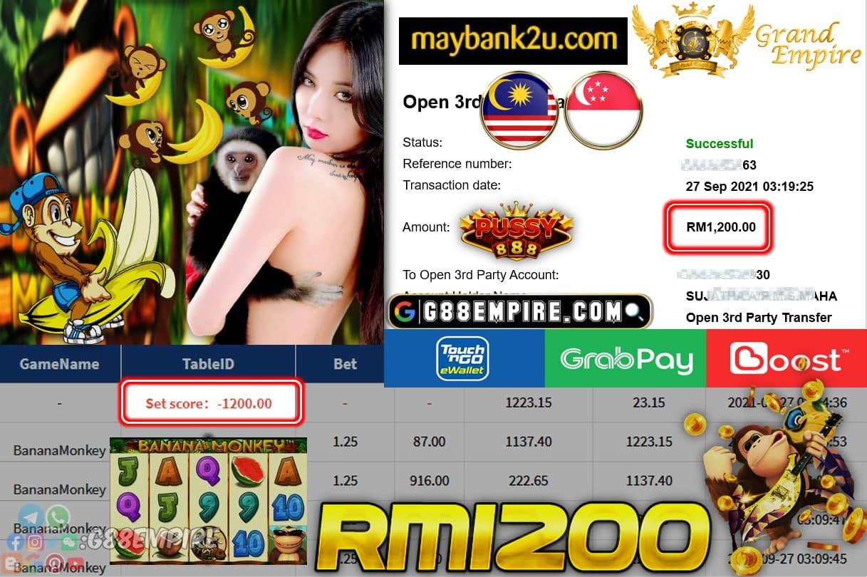 PUSSY888 - BANANAMONKEY CUCI RM1,200!!!!