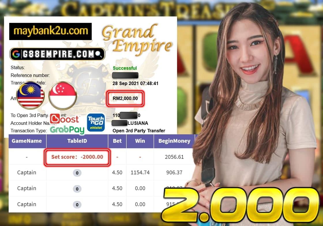 KISS918 - CAPTAIN CUCI RM 2.000!!!